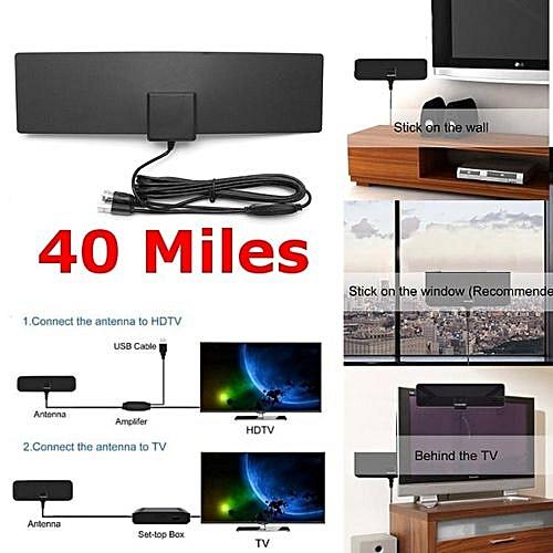Buy Universal Amplified Indoor Hdtv Antenna Black For Power Uhf Vhf