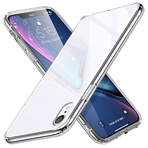 promo code 4e354 b1888 ESR Mimic Series TPU Frame + Glass Back Cover Case for iPhone XR(White)