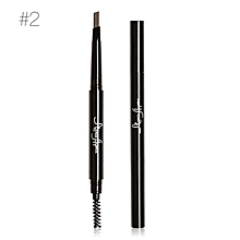 Double eyebrow pencil automatically rotate and smooth eyebrow pencil naturally waterproof and sweat resistant