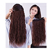 55cm Curly Full Head One Piece 5clips Clip in Hair Extensions Long Poplar Lady Style for Gifts