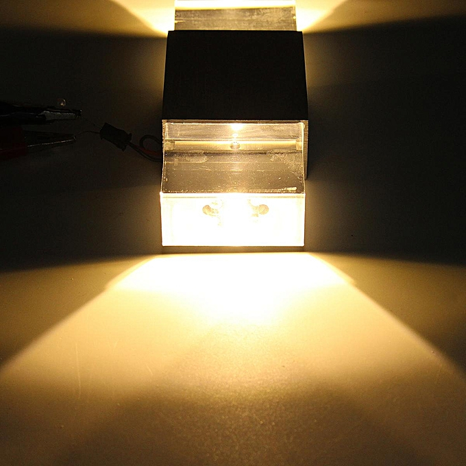 Led Light Enclosed Fixture: Generic 2W Modern LED Wall Light Up Down Cube Indoor