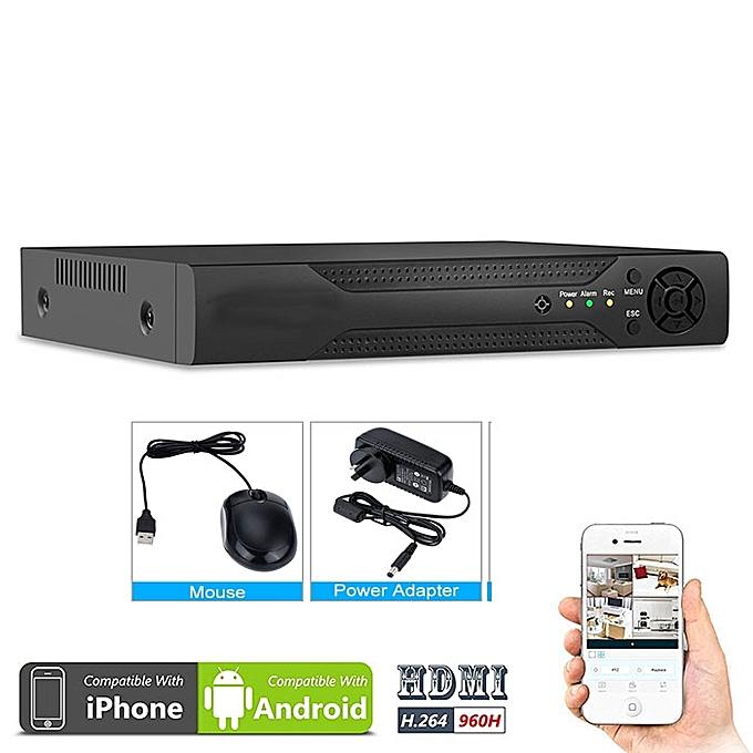 4 Channel DVR 1080P Hybrid 5-in-1 Disk Video Recorder (1080P  TVI+CVI+AHD+960H Analog +IP) H 264 CCTV 4CH Standalone dvr Quick QR Code  Scan w/Easy