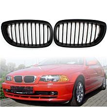 MATTE BLACK KIDNEY GRILLS GRILLES FOR BMW E46 3 SERIES 2 DOOR 02-05