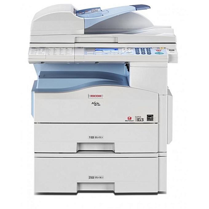 MP201SPF - A4 Mono Printer Scanner Copier Fax - 4-in-1 Laser  Multifunctional MFP - Grey & White