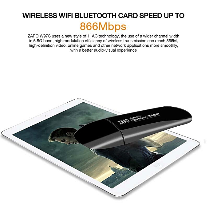 5G WIFI Add Bluetooth 4 1 Wireless AC USB 3 0 Dongle 1200Mbps Lan Adapter  Built In Antennas Network Card For Desktop Laptop( )