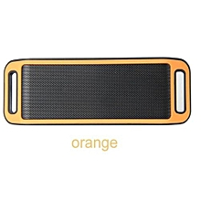 S816 Mini Wireless Smart Metal Portable Bluetooth Speaker Handfree Stereo Speakers For PC Laptop Iphone Smartphone(Orange)