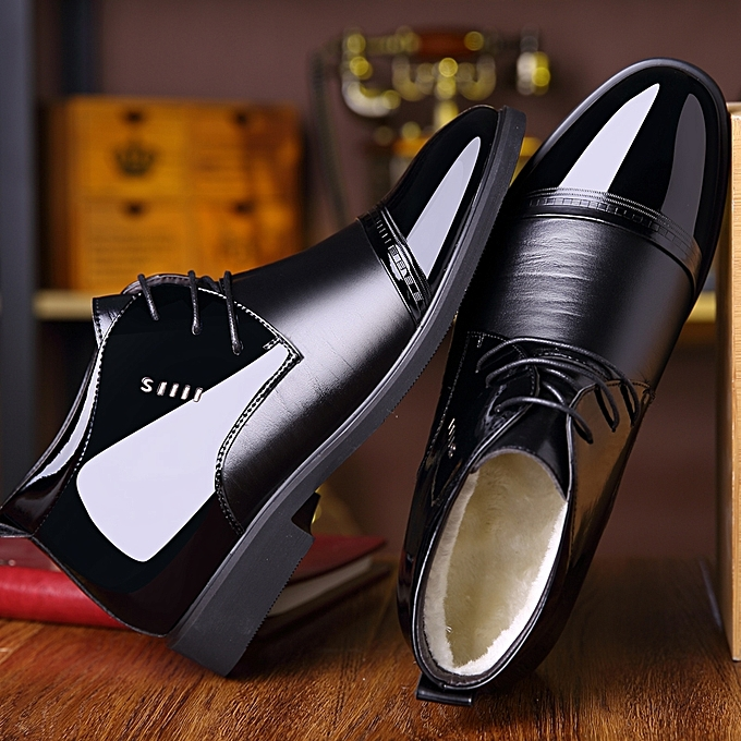 0ea169239eae ... Winter High Tops Formal Office Shoes Men Business Casual Shoes (Black)  ...
