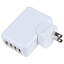 USB   Multiple simultaneous rapid charge corresponding 4 - port USB AC adapter charger white