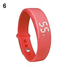 Smart Wrist Watch Pedometer W5 Steps Counter Calories Tracing Sports Bracelet-Red