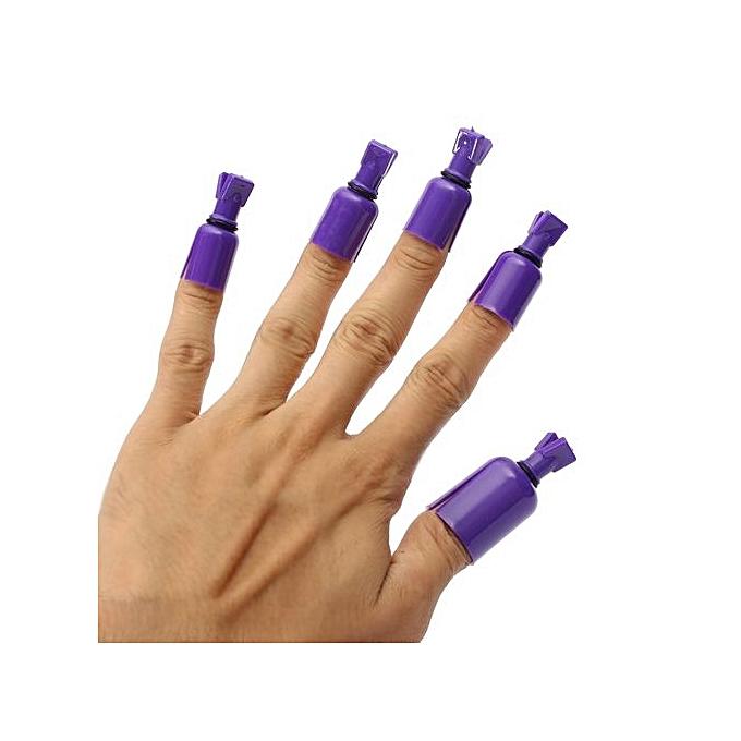 Buy UNIVERSAL 10PCS Plastic Acrylic Nail Art Soak Off UV Gel Polish ...