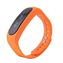 E02 Waterproof Fashion Bluetooth Smart Activity Tracker Bracelet(Orange)